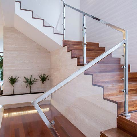 residential glass railings and windbreaks