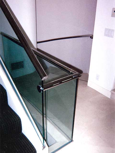 Request Estimate for Glass Railings at your Staircase from Westoaks Glass and Mirrors