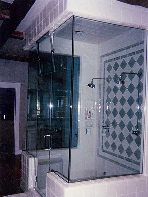 Frameless Glass Shower Door available at Westoaks Glass and Mirrors