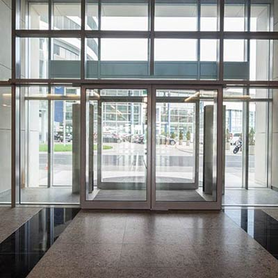 commercial glass building entrances and lobbies photos