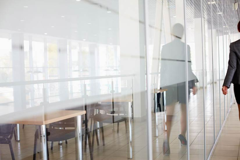 glass walls and doors for business offices Click to View Photo Gallery