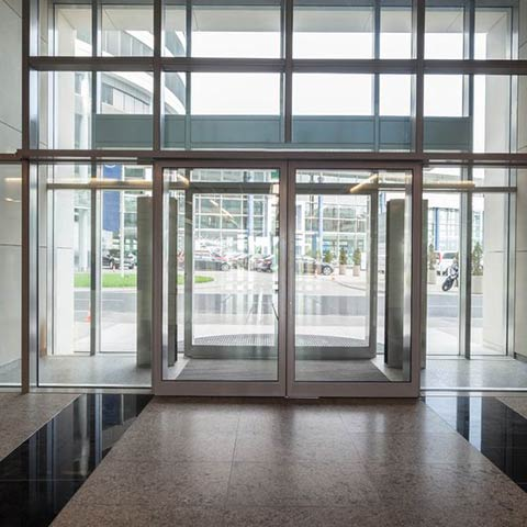 commercial glass entrances and lobbies