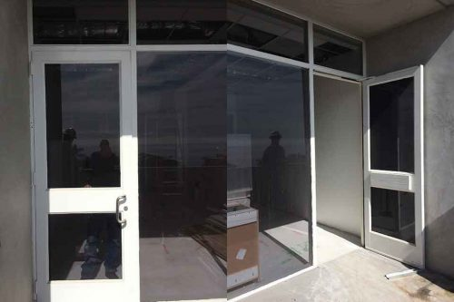 storefront glass doors