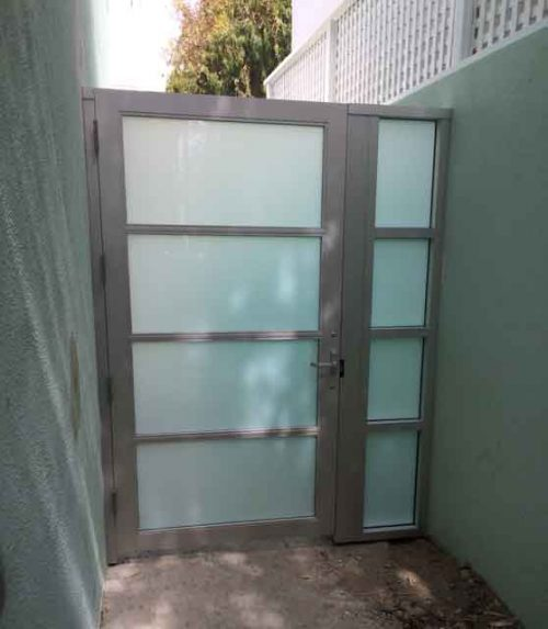 glass side door