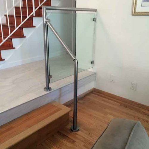 Staircase Glass Railings by Westoaks Glass and Mirrors in Los Angeles