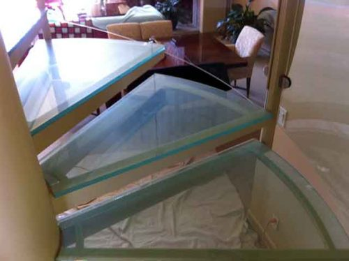 Glass Railing Stair Steps available in Los Angeles by Westoaks Glass and Mirrors