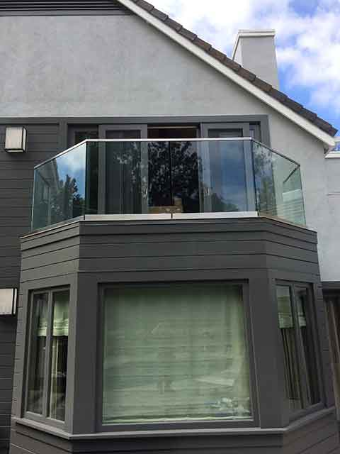 Custom Glass Windbreak on Balcony by Westoaks in Los Angeles